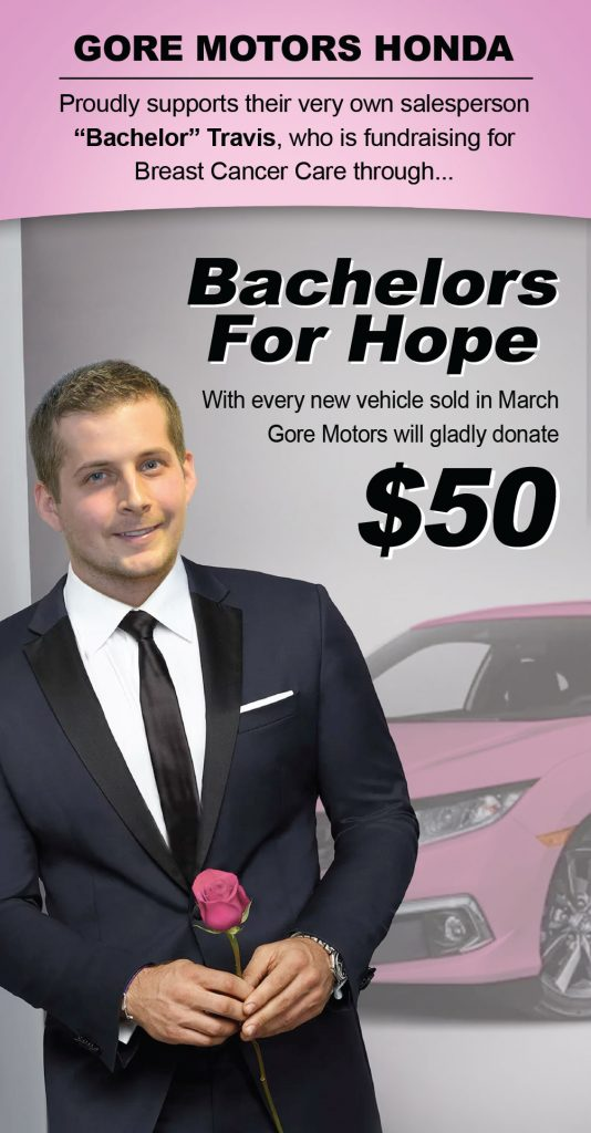 Bachelor Travis Breast Cancer Donation